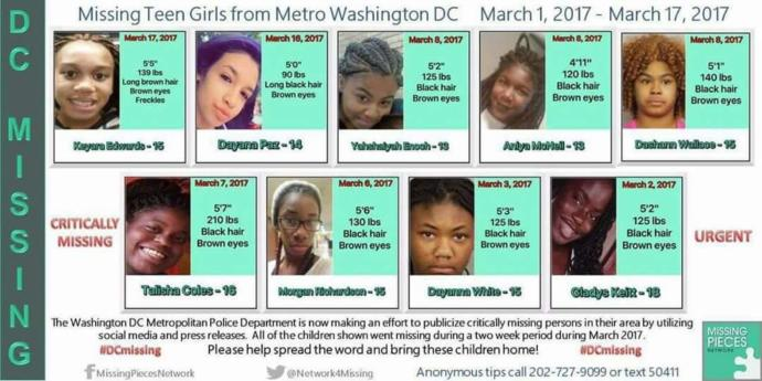 What can be done about all the missing black women and children in the United States?