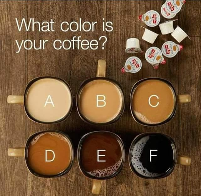 What color do you like your coffee?