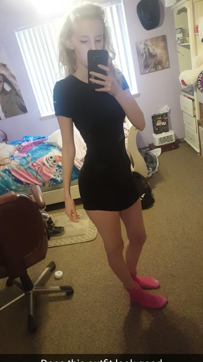 Dress is way too short.. shows my butt, help?