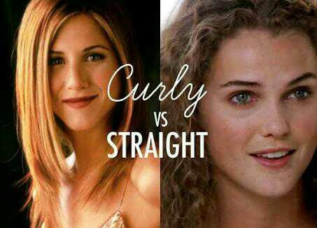 Curly vs straight hair?