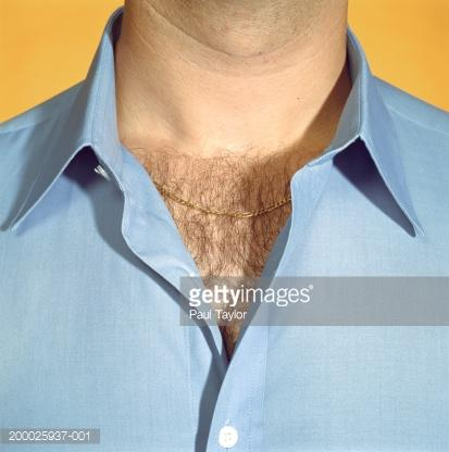 Chest hair visible from top of a shirt on a man, disgusting and disturbing?