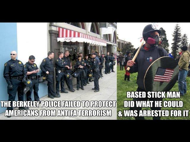 Is Vigilante Based Stickman a real life American Patriot superhero for standing up to Antifa facisist?