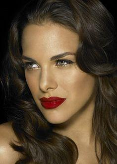 Who looks better with red lipstick?