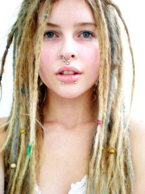 What impression do you get from a white girl with dreadlocks, nasal piercing and who is into fitness?