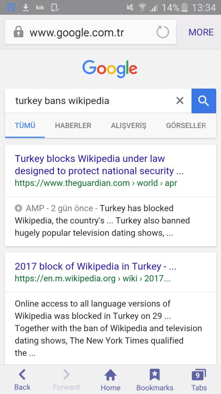 Erdoğan banned Wikipedia. Thoughts?