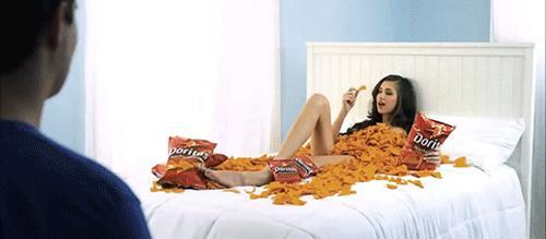 Why won't women admit that they like Doritos even though they love eating it when you confront them about it they will deny it and say they dont?