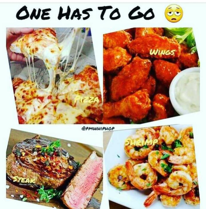 what's y'all pick ? Bye pizza✌?