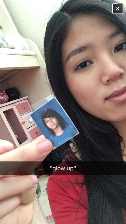 My friends glow up lol?