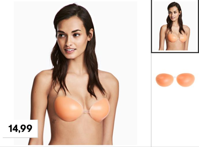 Silicone stick on bra?