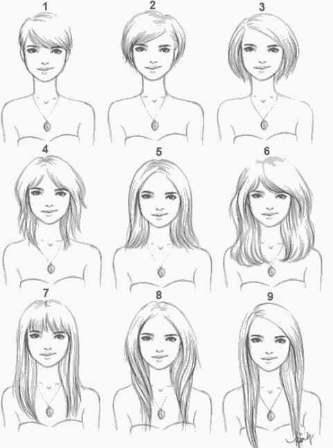 Guys which hairstyle would u like on a girl And Girls what is your fav among these?