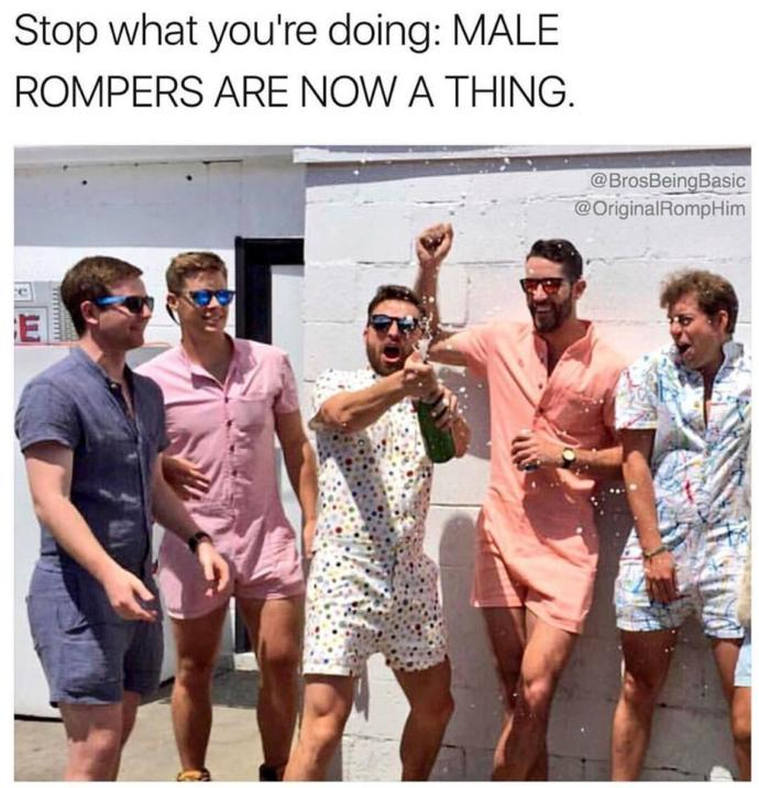 Male rompers are a thing now, opinions?