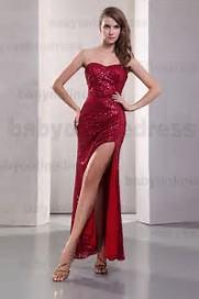What is the best length for a slit on an evening gown?
