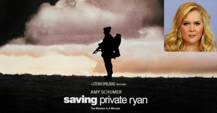 Saving Private Ryan remake... staring Amy Schumer?