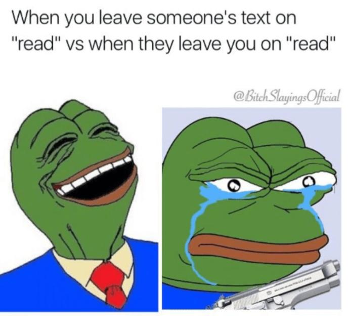 Name a reason why you would leave someone on read?