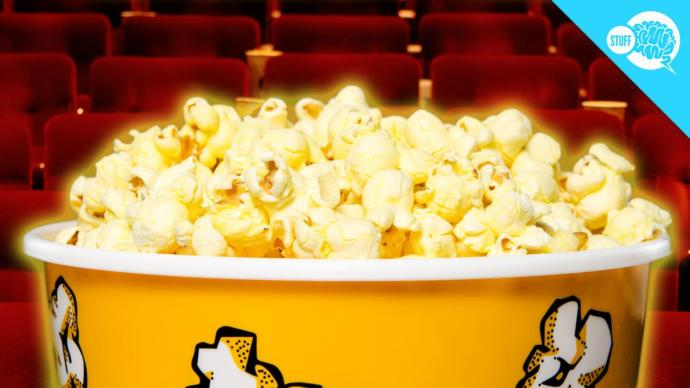 Why does movie popcorn taste better than popcorn you buy from the grocery?