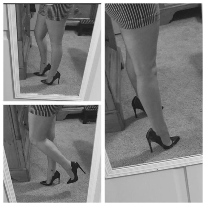Shorts and stilettos. Like?