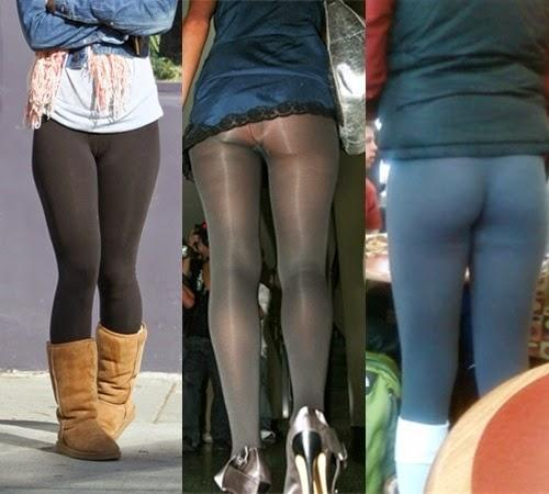 People who just don't know how to wear leggings?