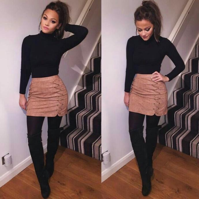 What do you think about 18 year old girls who wear these clothes to school?