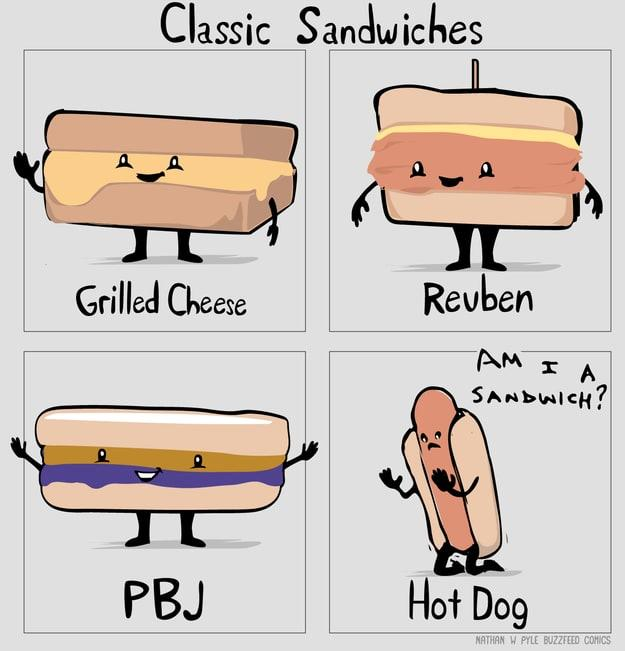 Is a hotdog a sandwich?