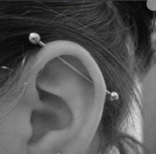 what do guys think about industrial piercing??