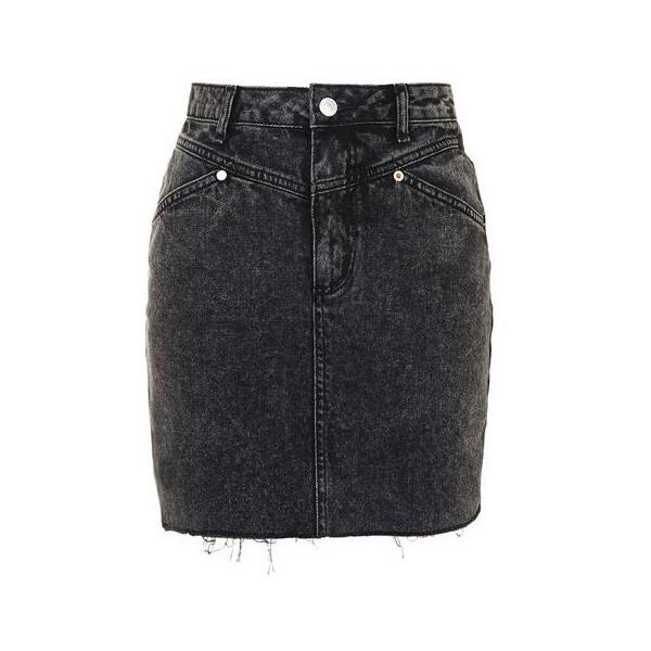 how to style black denim skirt?