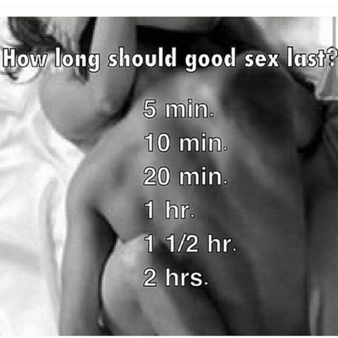 How Long Should Good Sex Last