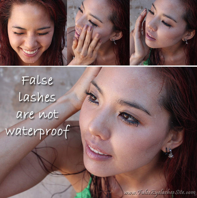For women who wear false lashes often: Do they unglue in hot weather (while sweating)?