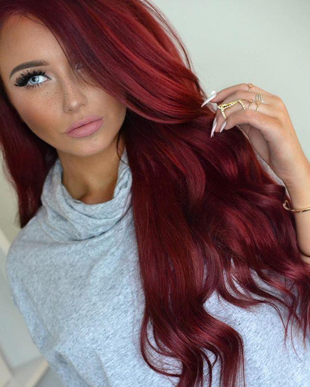 Should I dye my hair red or black?