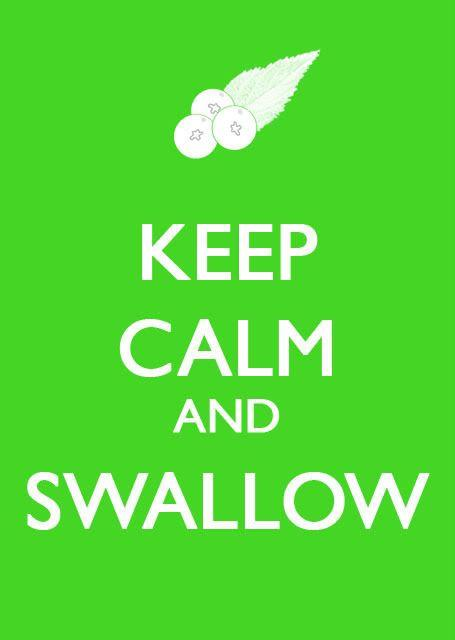 Swallowing chewing gum?