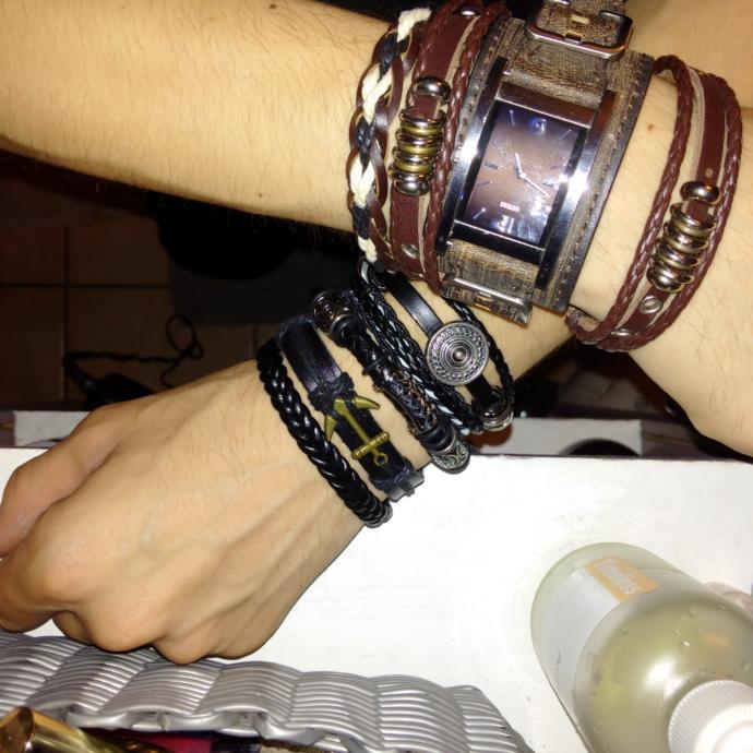 I'm kind of a leather bracelet fanatic? Thoughts?