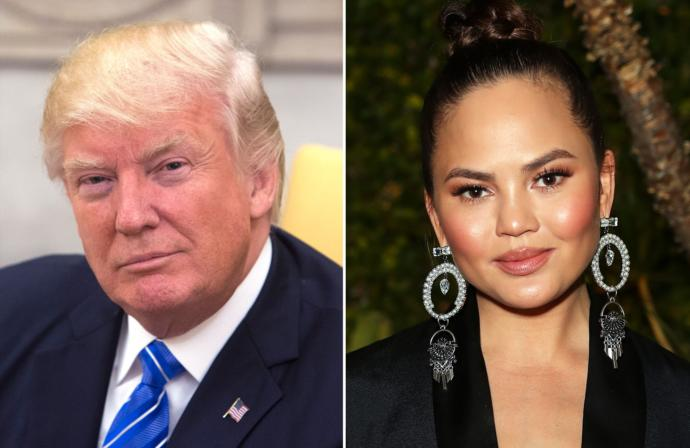 Isn't it funny that a 70-something-year old president blocked Chrissy Teigen on Twitter?