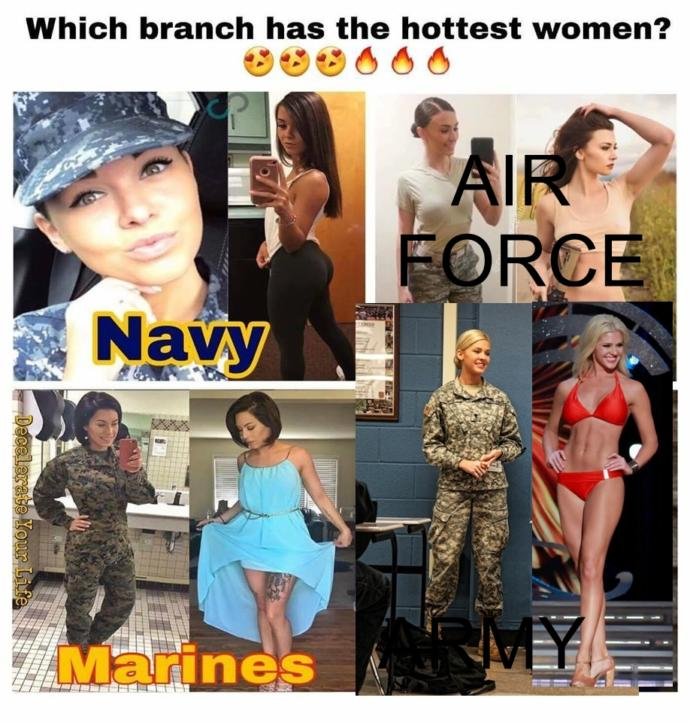 Which military branch has the best looking girl??