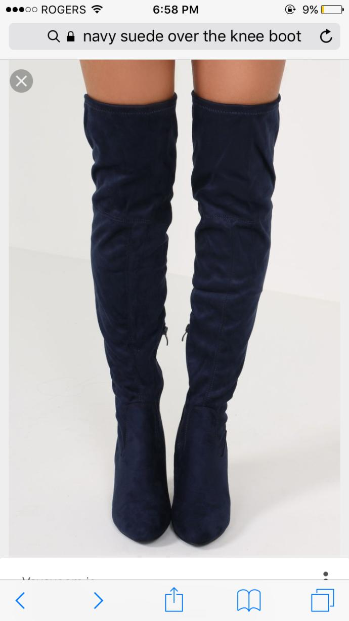 I'm wondering if a navy suede over the knee boots can go with jeans, black bomber jacket or any jackets for fall?