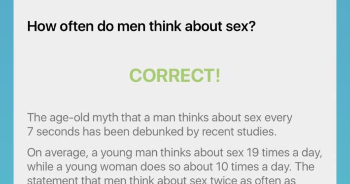 Why do men think about sex so much