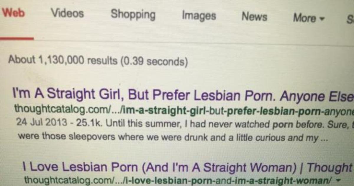 why do straight women like lesbian porn