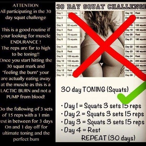 Which 30 day squat challenge is best for my saggy butt?