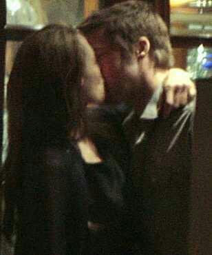 Angelina and Brad Public PDA?