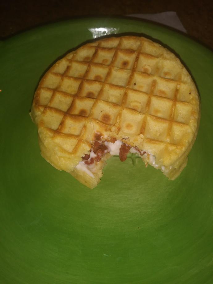 Eggo waffle bacon sandwich?