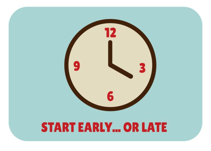 Are you usually Early, Late or Right on Time in your life?
