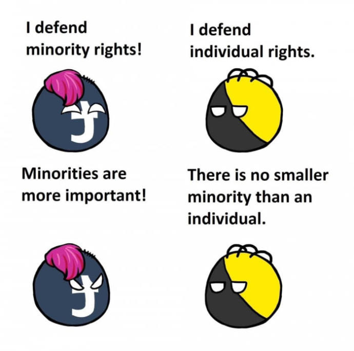 Why are people nowadays more obsessed with minority rights instead of individual rights?