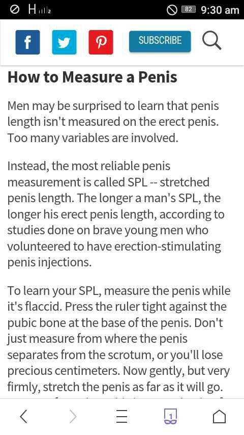 So did u know the actual/ normal method of measuring penis??