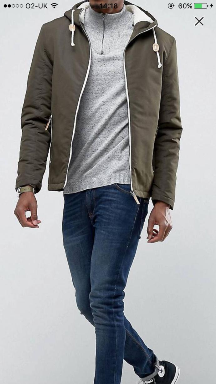 What should I wear with these jeans and jacket?
