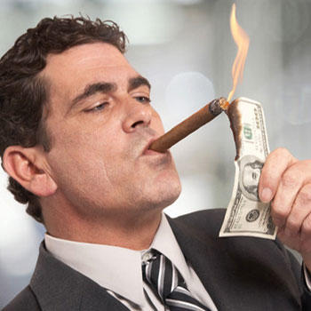 If you saw someone lighting their cigar with a $100 bill, what would you think?