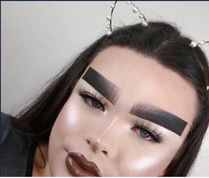 Aren't makeup trends getting way OTT nowadays?