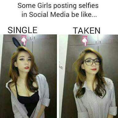 How do girls act when they are single vs when they are taken??
