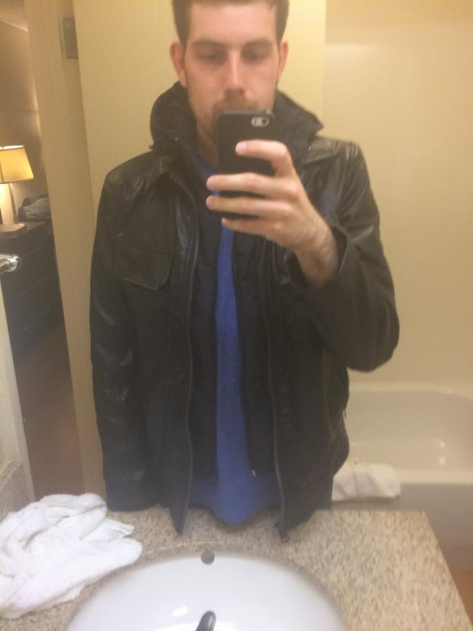 Girls do I look good in the leather jacket? Am I cool enough to pull this look off?