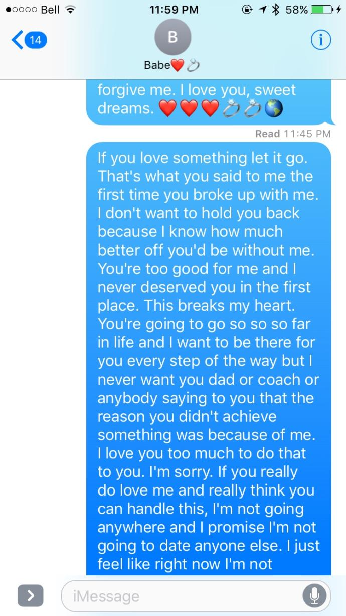Broke up with someone I love..?