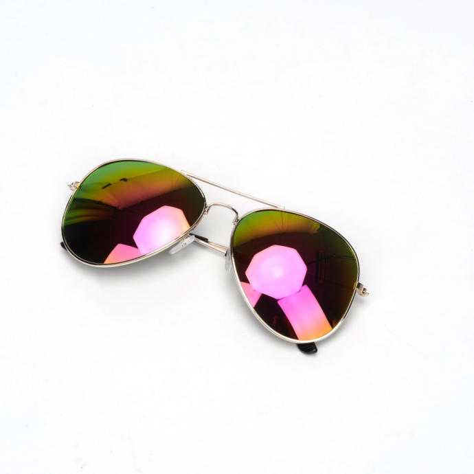 Would it look weird for a guy to wear aviator sunglasses that has violet colored lenses ?