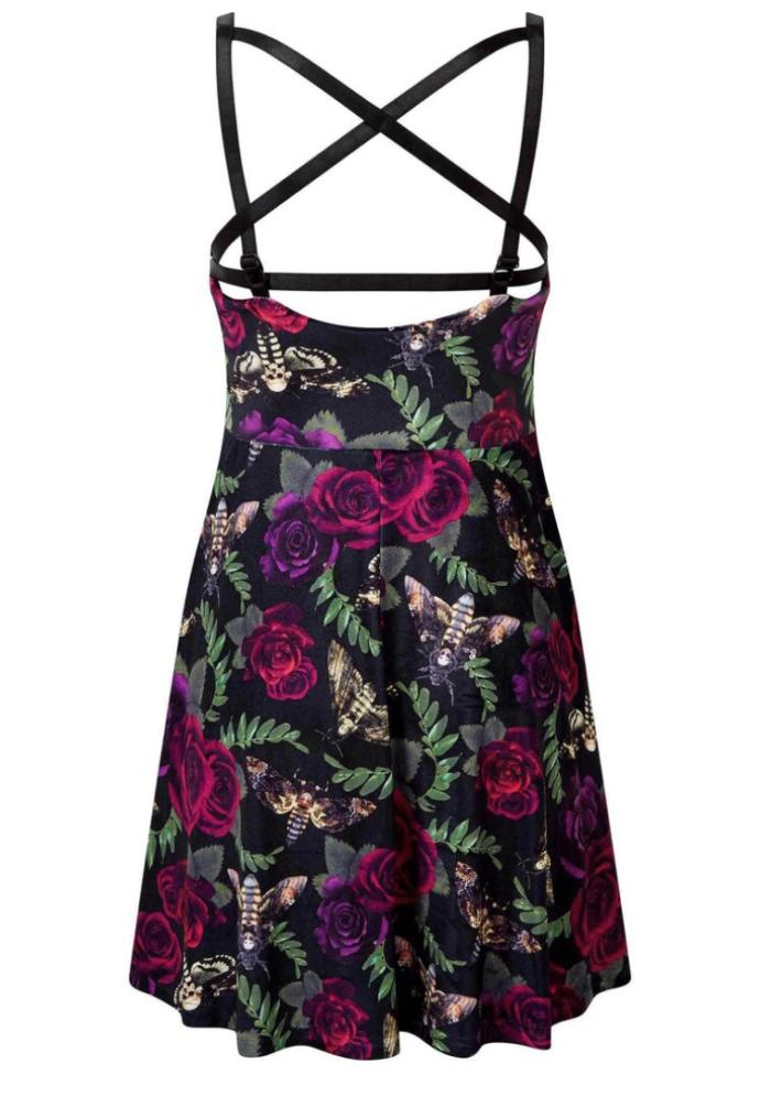 What do you think about this printed dress with pentagram detailing?