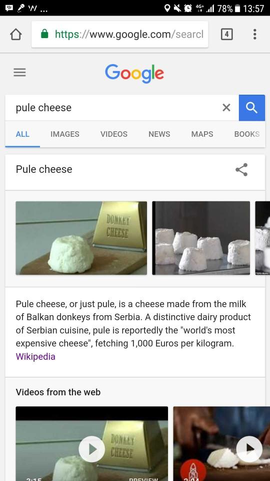 donkey cheese. yuk?
